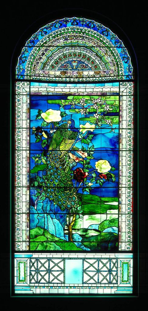 Peacocks and PeoniesII, 1882 by John La Farge (1835 - 1910). Smithsonian American Art Museum