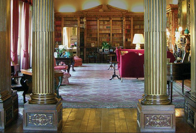 library at highclere_Downton Abbey2