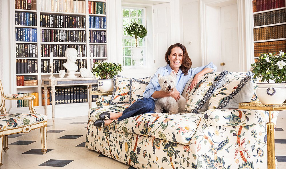 Carolyne's print sofa