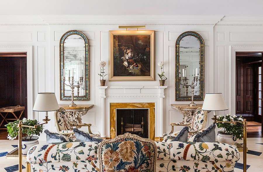 Carolyne's sofa back and mirrors