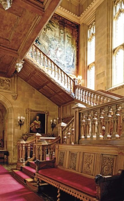 Staircase at Highclere Castle