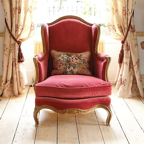 velvet wing chair-kateforman.co.uk