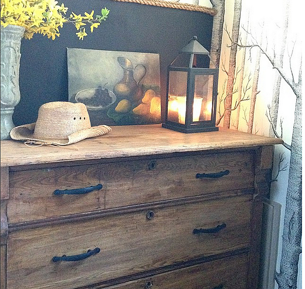 Jessika Goranson Lewand antique chest in laundry room
