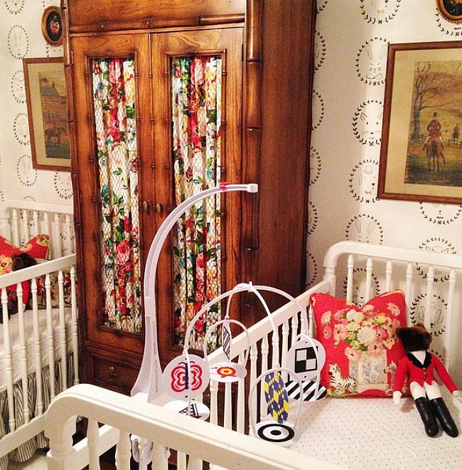 Jessika Goranson Lewand twin's nursery