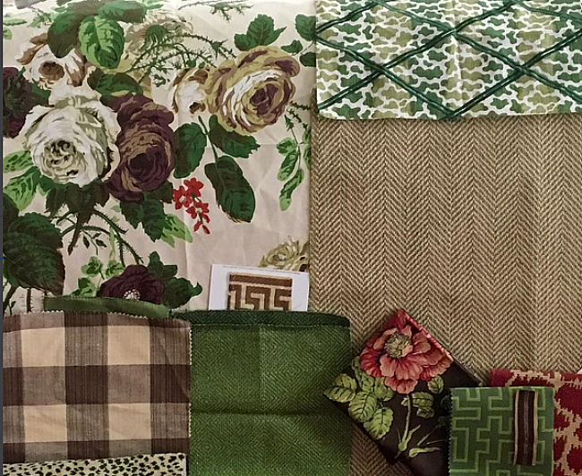Karen Keysar fabric choices for family room