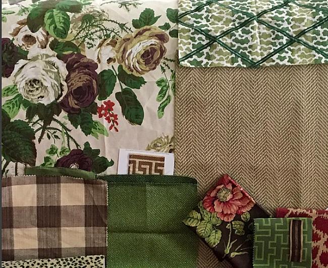 Karen Keysar fabric choices for family room