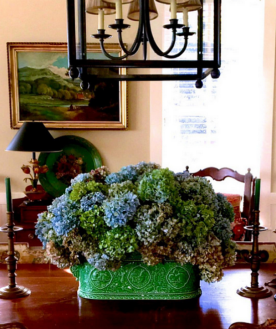 Karen Keysar Hydrangeas in Green Container