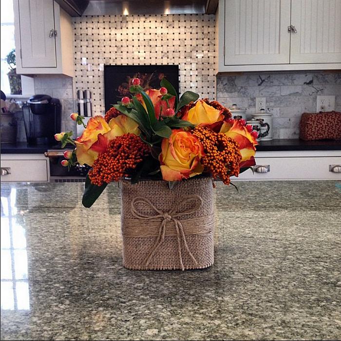 Karen Keysar kitchen with flowers