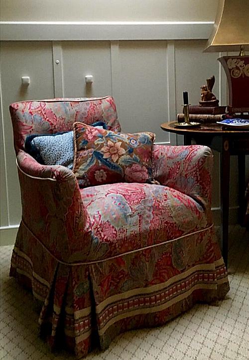 Karen Keysar slipcovered antique chair